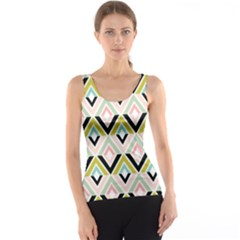 Chevron Pink Green Copy Tank Top