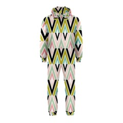 Chevron Pink Green Copy Hooded Jumpsuit (Kids)