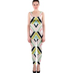 Chevron Pink Green Copy OnePiece Catsuit