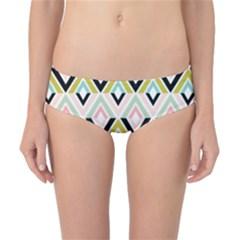 Chevron Pink Green Copy Classic Bikini Bottoms