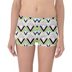 Chevron Pink Green Copy Reversible Bikini Bottoms
