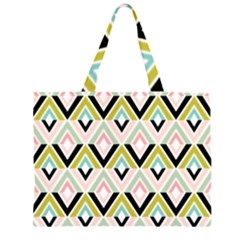 Chevron Pink Green Copy Large Tote Bag