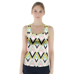 Chevron Pink Green Copy Racer Back Sports Top