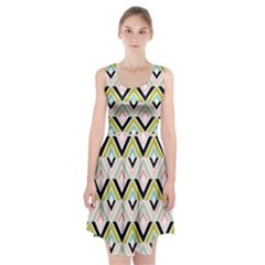Chevron Pink Green Copy Racerback Midi Dress