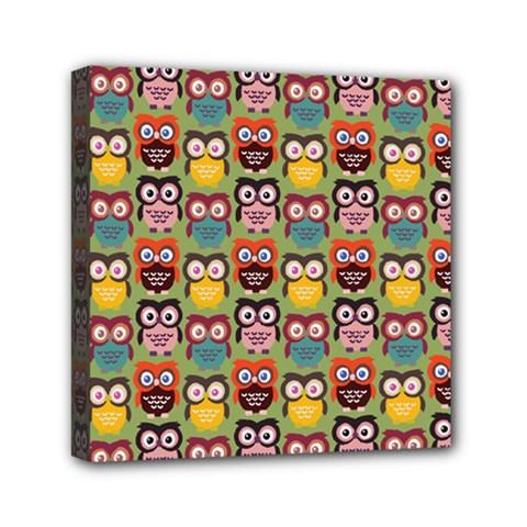 Eye Owl Colorful Cute Animals Bird Copy Mini Canvas 6  x 6