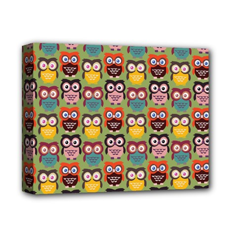 Eye Owl Colorful Cute Animals Bird Copy Deluxe Canvas 14  x 11