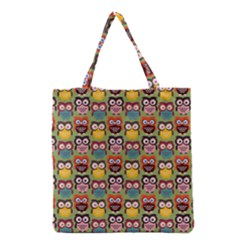 Eye Owl Colorful Cute Animals Bird Copy Grocery Tote Bag