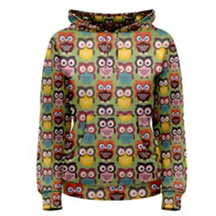 Eye Owl Colorful Cute Animals Bird Copy Women s Pullover Hoodie