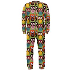 Eye Owl Colorful Cute Animals Bird Copy OnePiece Jumpsuit (Men)
