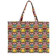 Eye Owl Colorful Cute Animals Bird Copy Large Tote Bag
