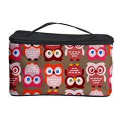 Eye Owl Colorfull Pink Orange Brown Copy Cosmetic Storage Case