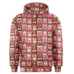 Eye Owl Colorfull Pink Orange Brown Copy Men s Zipper Hoodie