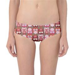 Eye Owl Colorfull Pink Orange Brown Copy Classic Bikini Bottoms