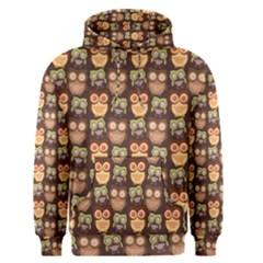 Eye Owl Line Brown Copy Men s Pullover Hoodie