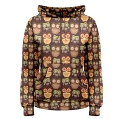 Eye Owl Line Brown Copy Women s Pullover Hoodie