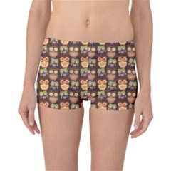 Eye Owl Line Brown Copy Reversible Bikini Bottoms