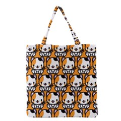 Face Cat Yellow Cute Grocery Tote Bag