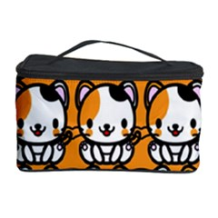 Face Cat Yellow Cute Cosmetic Storage Case