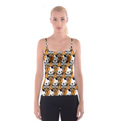 Face Cat Yellow Cute Spaghetti Strap Top