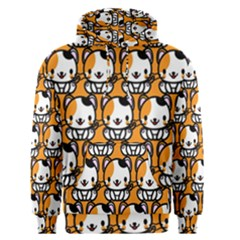 Face Cat Yellow Cute Men s Pullover Hoodie