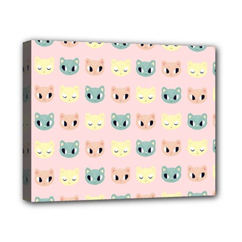 Face Cute Cat Canvas 10  x 8