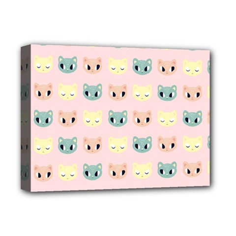 Face Cute Cat Deluxe Canvas 16  x 12