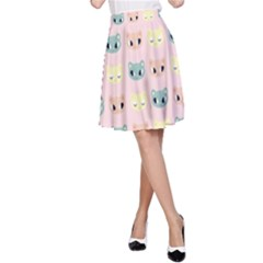 Face Cute Cat A-Line Skirt