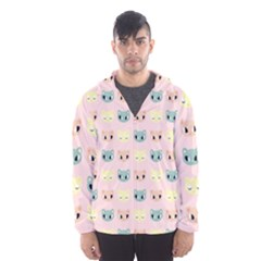 Face Cute Cat Hooded Wind Breaker (Men)