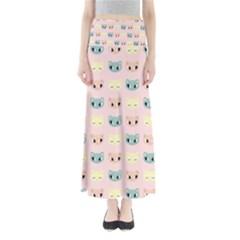 Face Cute Cat Maxi Skirts
