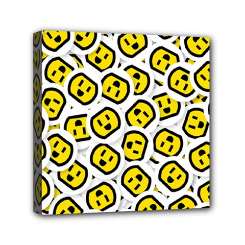 Face Smile Yellow Copy Mini Canvas 6  x 6