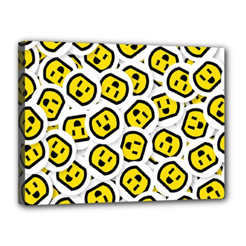 Face Smile Yellow Copy Canvas 16  x 12