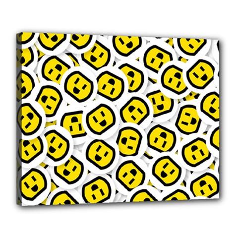 Face Smile Yellow Copy Canvas 20  x 16