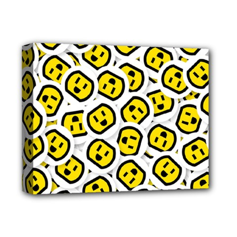 Face Smile Yellow Copy Deluxe Canvas 14  x 11
