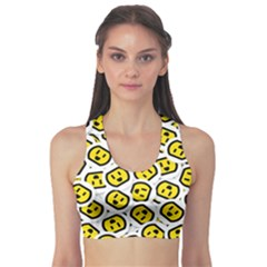 Face Smile Yellow Copy Sports Bra