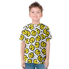 Face Smile Yellow Copy Kids  Cotton Tee