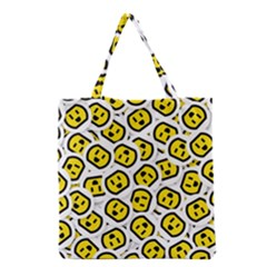 Face Smile Yellow Copy Grocery Tote Bag