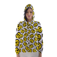 Face Smile Yellow Copy Hooded Wind Breaker (Women)