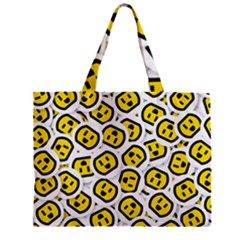 Face Smile Yellow Copy Zipper Mini Tote Bag