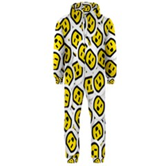 Face Smile Yellow Copy Hooded Jumpsuit (Men)