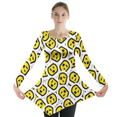 Face Smile Yellow Copy Long Sleeve Tunic