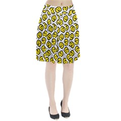Face Smile Yellow Copy Pleated Skirt