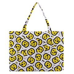 Face Smile Yellow Copy Medium Zipper Tote Bag