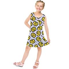 Face Smile Yellow Copy Kids  Tunic Dress
