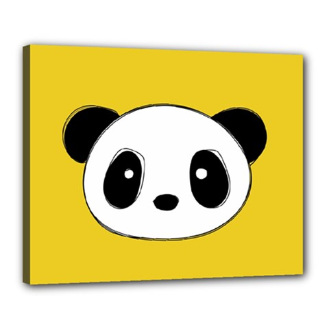 Face Panda Cute Canvas 20  x 16