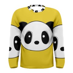 Face Panda Cute Men s Long Sleeve Tee