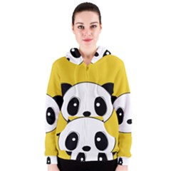 Face Panda Cute Women s Zipper Hoodie