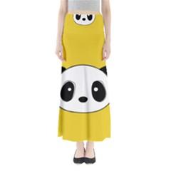 Face Panda Cute Maxi Skirts