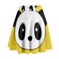 Face Panda Cute High Waist Skirt