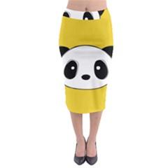 Face Panda Cute Midi Pencil Skirt