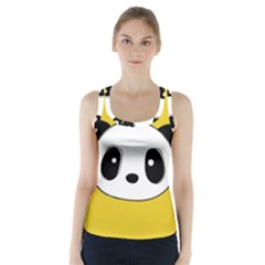 Face Panda Cute Racer Back Sports Top